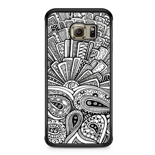 Zentangle Monogram Samsung Galaxy S6 Edge case