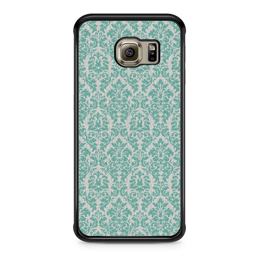 Teal Damask Samsung Galaxy S6 Edge case