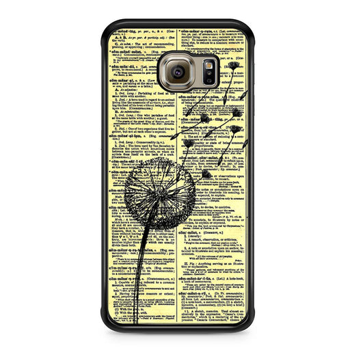 Dandelion On Vintage Dictionary Page Samsung Galaxy S6 Edge case