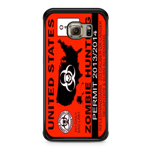 Zombie Hunting Permit Samsung Galaxy S6 Edge case