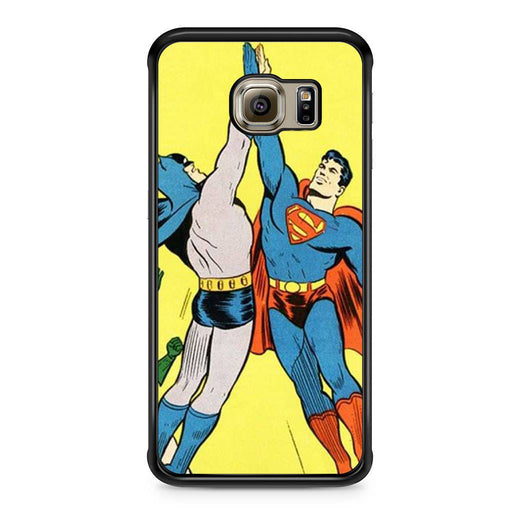 World's Finest Superman Batman Super High Five Samsung Galaxy S6 Edge case