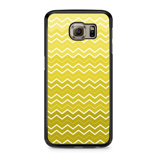 Yellow Chevron Pattern Samsung Galaxy S6 case