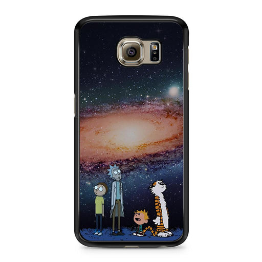Rick Morty Calvin Hobbes Stargazing Samsung Galaxy S6 case