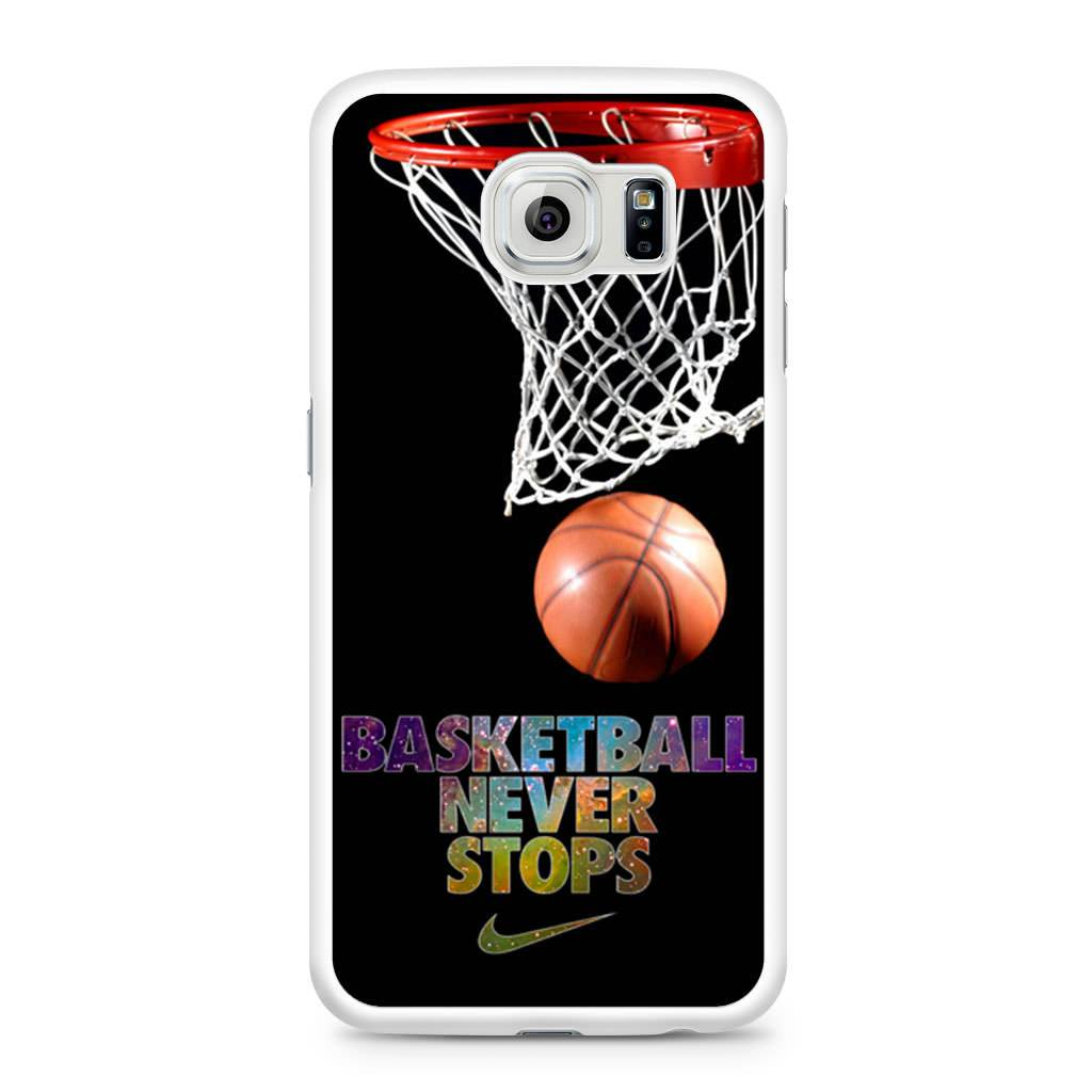 best authentic e6f94 390b1 Basketball Never Stop Samsung Galaxy S6 case
