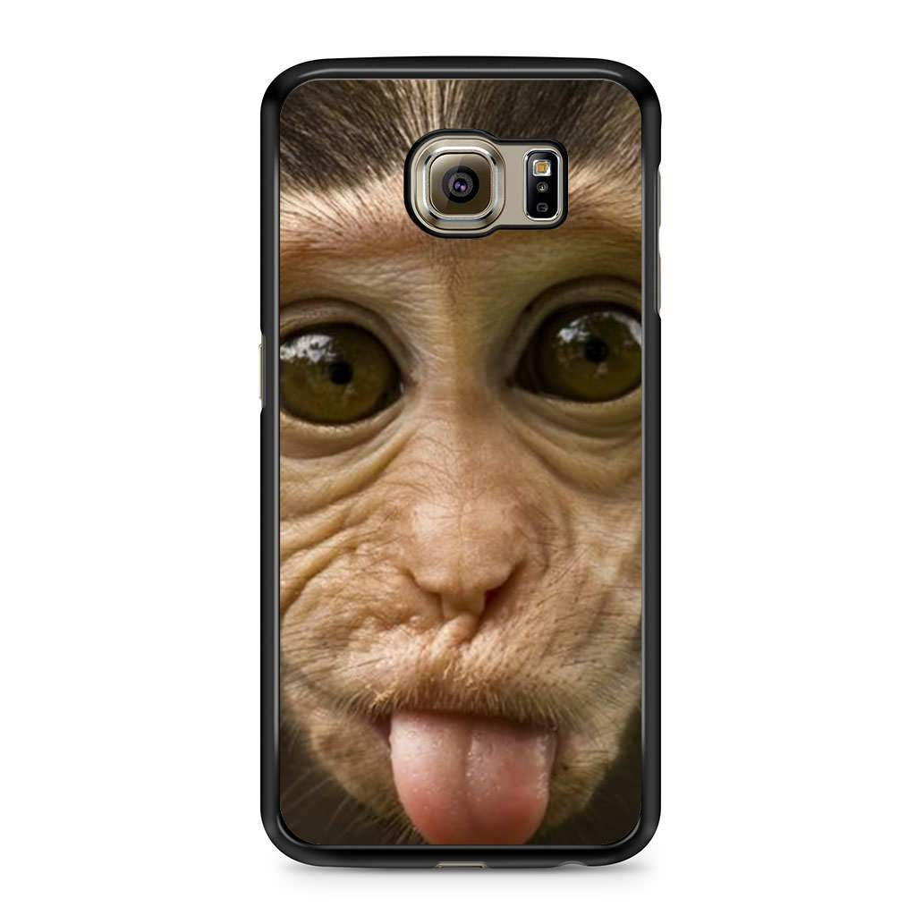 sports shoes 03696 8f6a8 Silly Cute Monkey Funny Face Tongue Samsung Galaxy S6 case