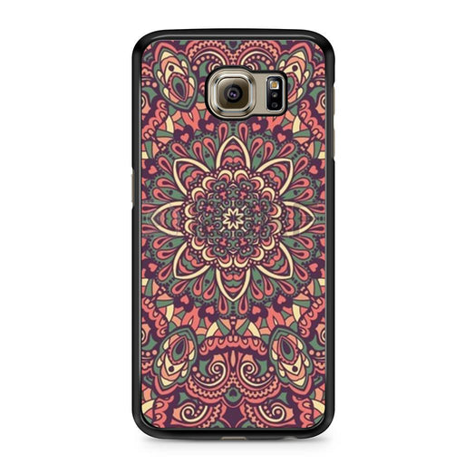 Seamless Mandala Flower Indian Bali Tribal Samsung Galaxy S6 case