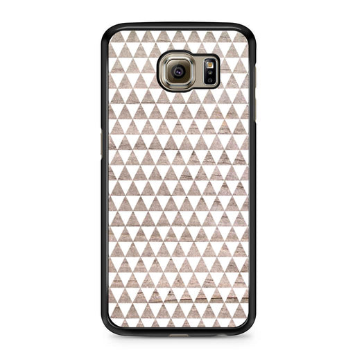 Wooden Triangle Geometric Pattern Samsung Galaxy S6 case