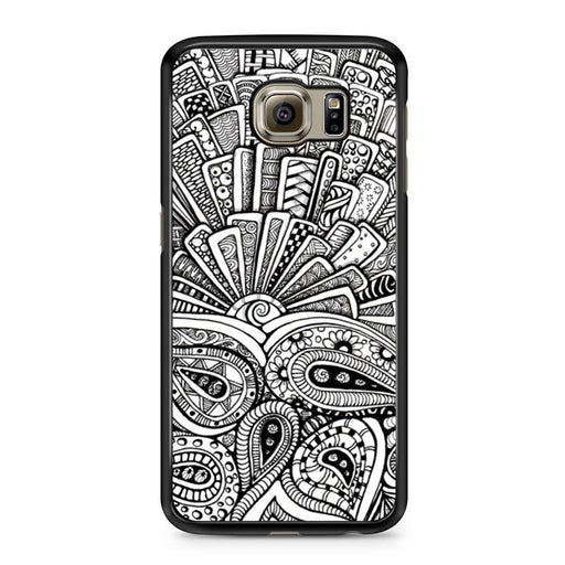 Zentangle Monogram Samsung Galaxy S6 case