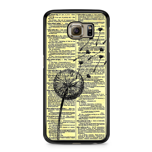 Dandelion On Vintage Dictionary Page Samsung Galaxy S6 case
