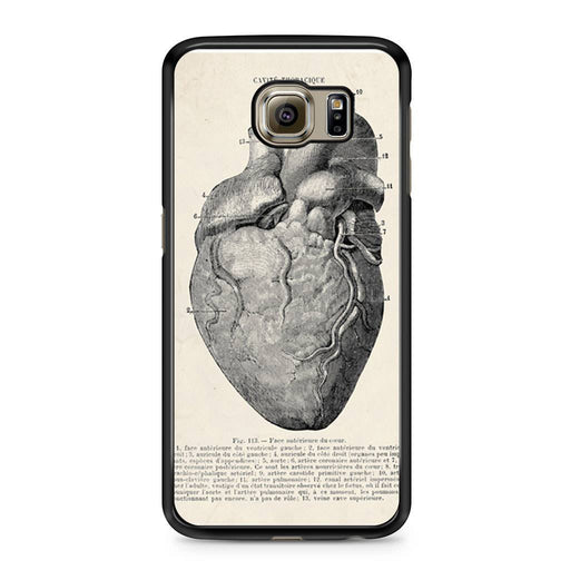 Vintage Medical Anatomical Heart Diagram Samsung Galaxy S6 case