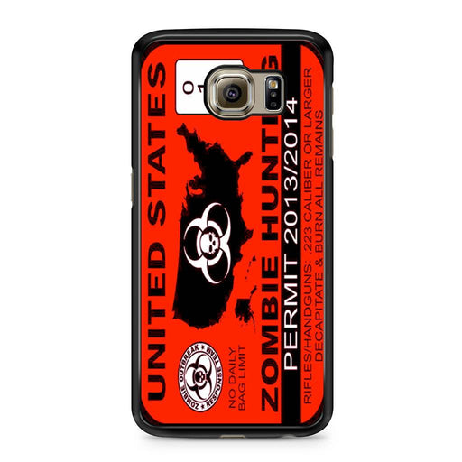 Zombie Hunting Permit Samsung Galaxy S6 case