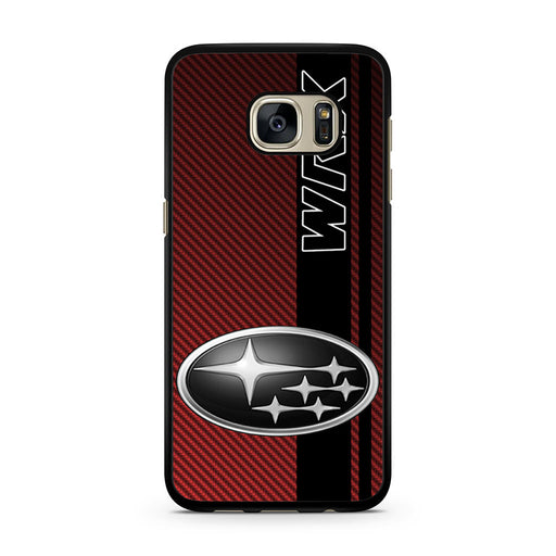 Subaru WRX Logo On A Field Of Simulated Red Samsung Galaxy S7 case