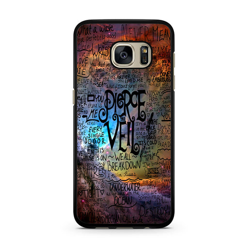 Pierce The Veil Lyric Logo Quote Galaxy Samsung Galaxy S7 case