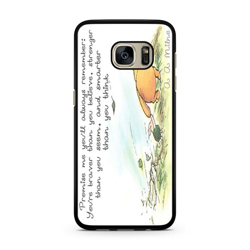 Winnie the Pooh Quote Samsung Galaxy S7 case