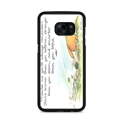 Winnie the Pooh Quote Samsung Galaxy S7 Edge case