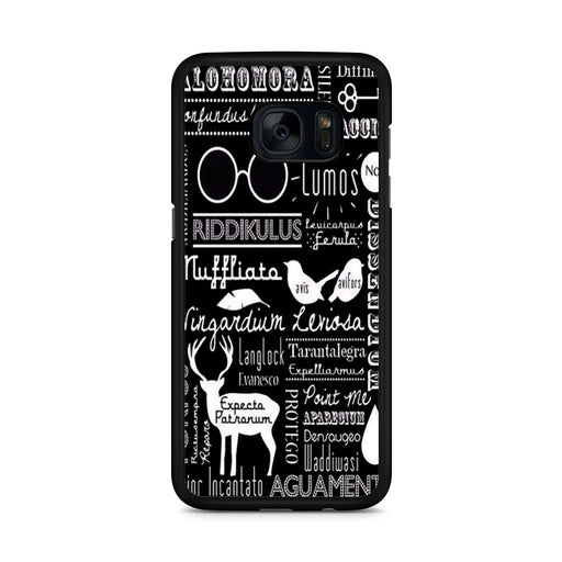 Harry Potter Spells Samsung Galaxy S7 Edge case