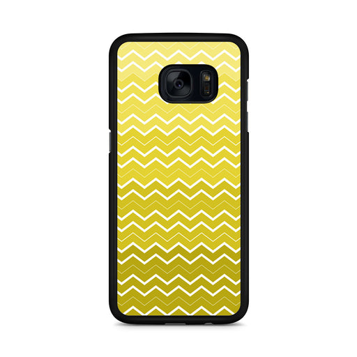 Yellow Chevron Pattern Samsung Galaxy S7 Edge case