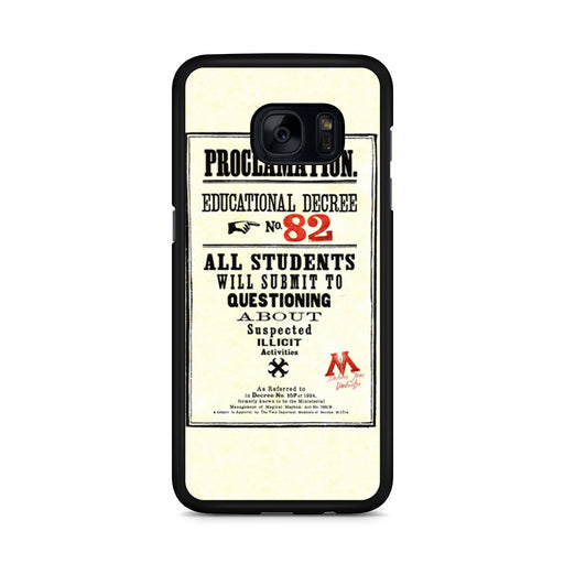 Harry Potter Proclamation Educational Decree No. 82 Samsung Galaxy S7 Edge case