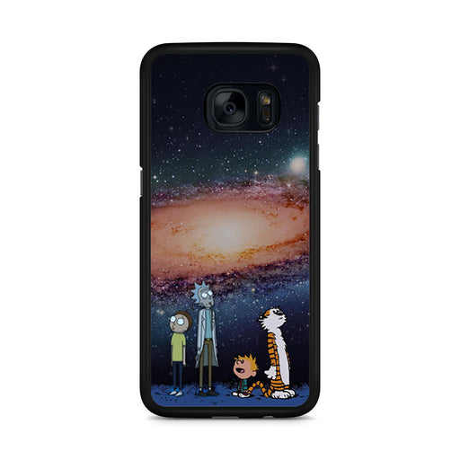 Rick Morty Calvin Hobbes Stargazing Samsung Galaxy S7 Edge case