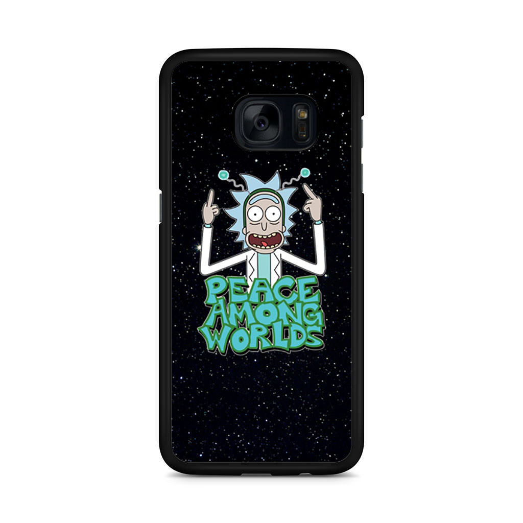 Rick Sanchez Morty Peace Among Worlds Samsung Galaxy S7 Edge case