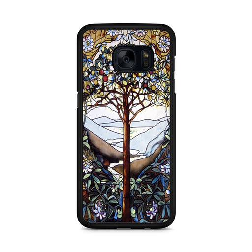 Tree of Life Stained Glass Samsung Galaxy S7 Edge case