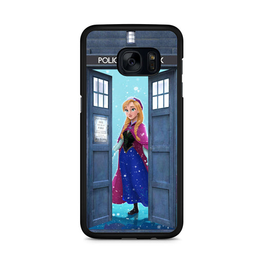 Tardis Disney Frozen Anna Samsung Galaxy S7 Edge case