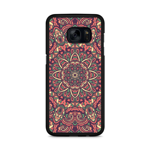 Seamless Mandala Flower Indian Bali Tribal Samsung Galaxy S7 Edge case
