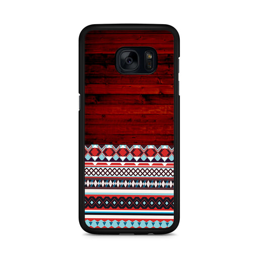 Wooden Aztec Pattern Samsung Galaxy S7 Edge case
