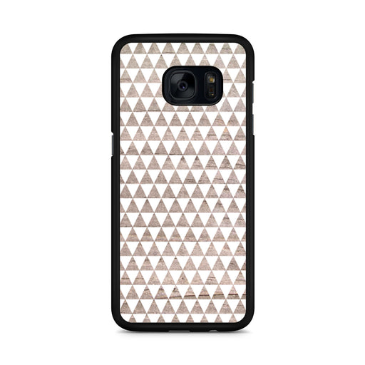 Wooden Triangle Geometric Pattern Samsung Galaxy S7 Edge case