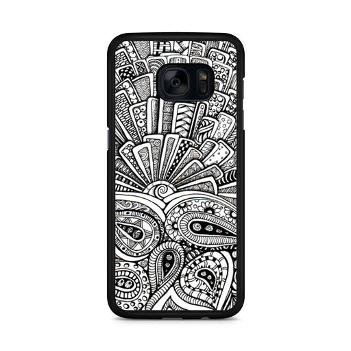 Zentangle Monogram Samsung Galaxy S7 Edge case