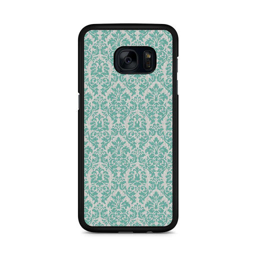 Teal Damask Samsung Galaxy S7 Edge case