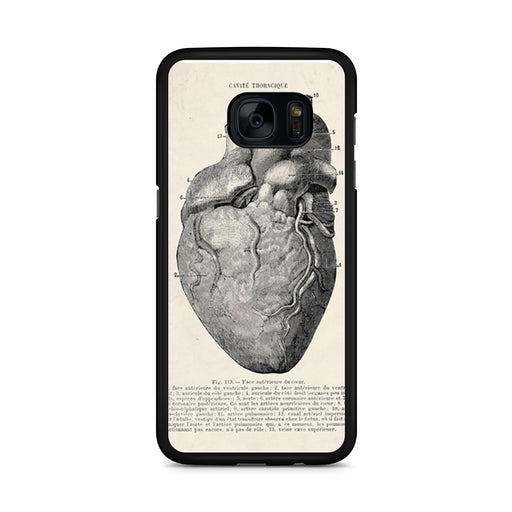 Vintage Medical Anatomical Heart Diagram Samsung Galaxy S7 Edge case
