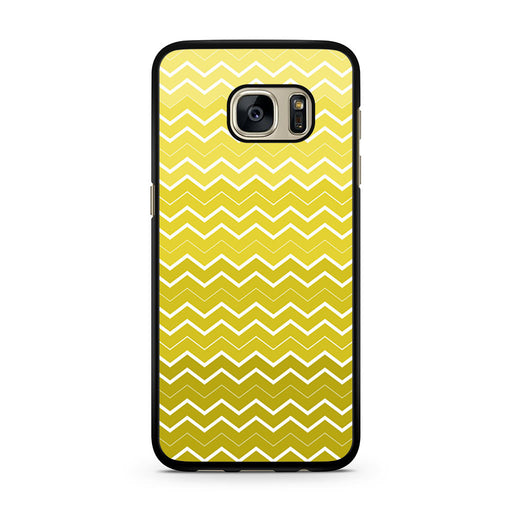 Yellow Chevron Pattern Samsung Galaxy S7 case