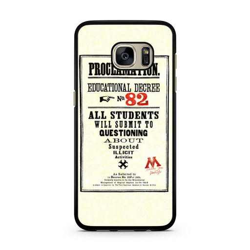 Harry Potter Proclamation Educational Decree No. 82 Samsung Galaxy S7 case