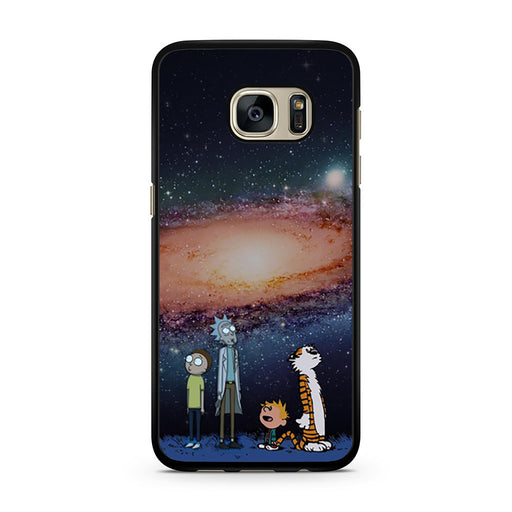 Rick Morty Calvin Hobbes Stargazing Samsung Galaxy S7 case