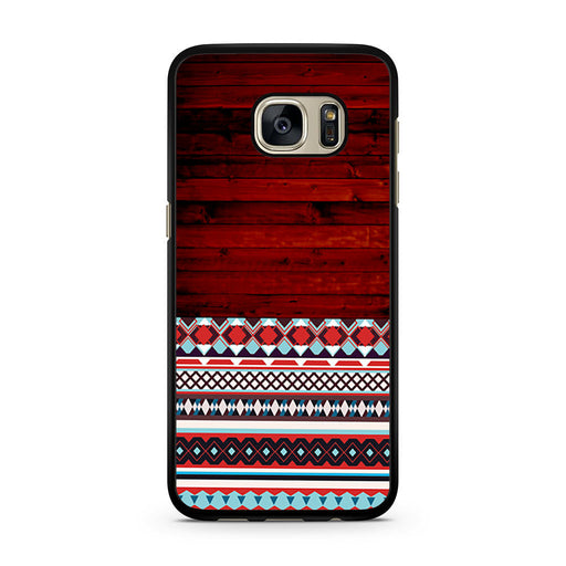 Wooden Aztec Pattern Samsung Galaxy S7 case