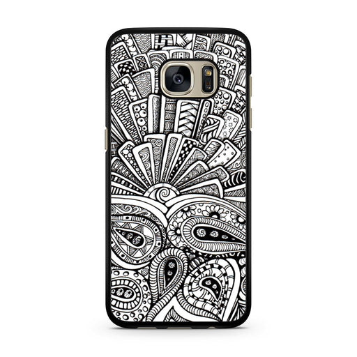 Zentangle Monogram Samsung Galaxy S7 case