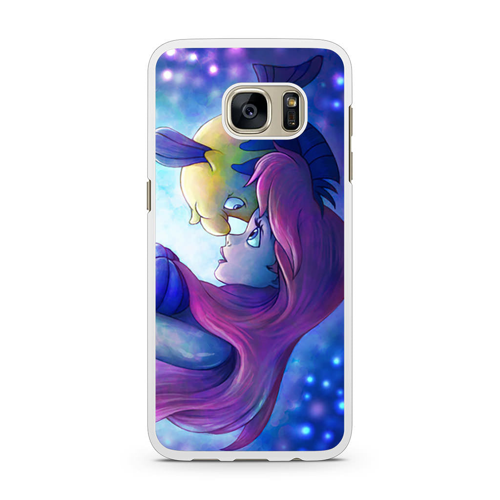 on sale 8ee26 bf4a1 Flounder and Ariel The Little Mermaid Samsung Galaxy S7 case