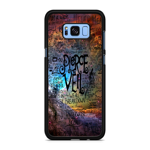 Pierce The Veil Lyric Logo Quote Galaxy Samsung Galaxy S8/S8+ case