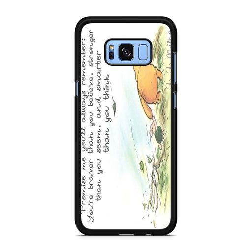 Winnie the Pooh Quote Samsung Galaxy S8/S8+ case
