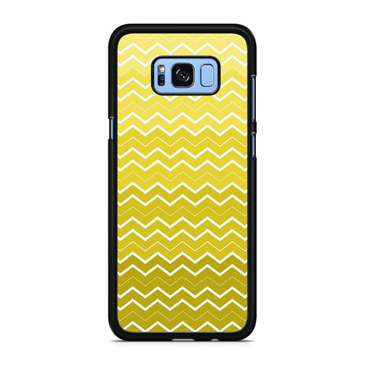 Yellow Chevron Pattern Samsung Galaxy S8/S8+ case