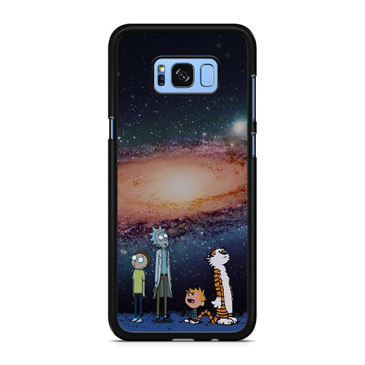 Rick Morty Calvin Hobbes Stargazing Samsung Galaxy S8/S8+ case