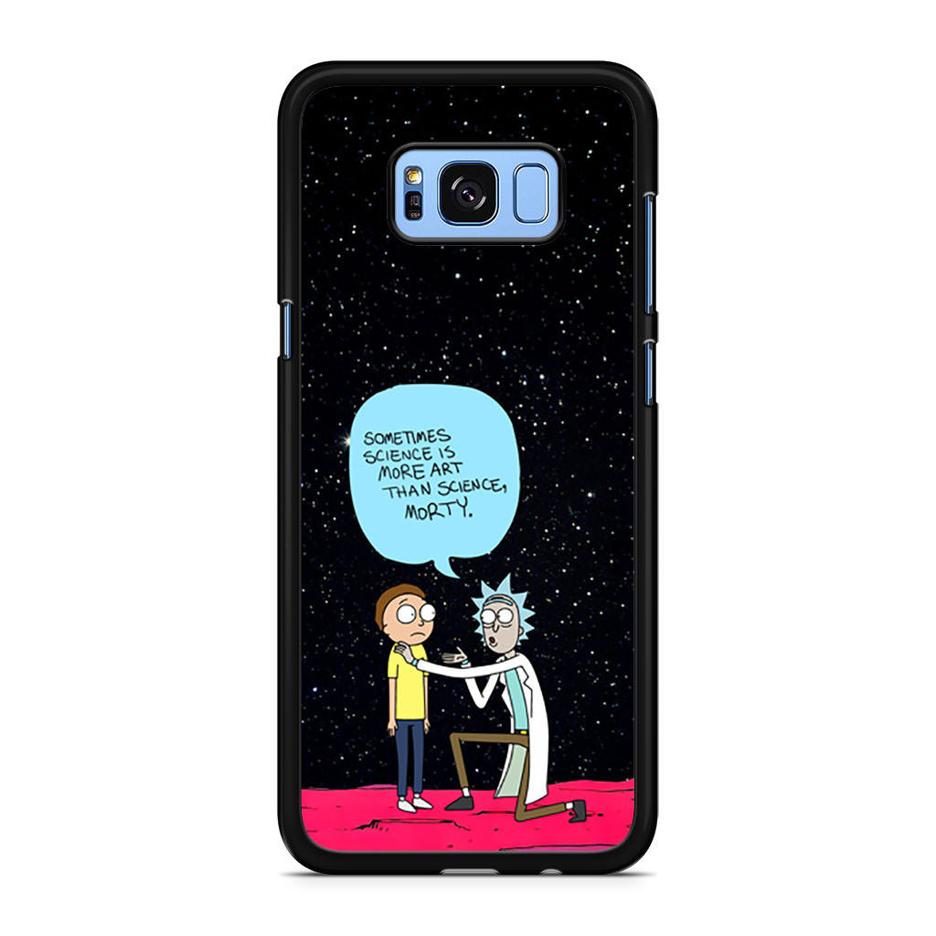 best service 8286f 12748 Rick and Morty Science Art Quote Samsung Galaxy S8/S8+ case