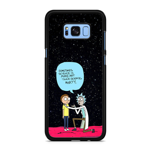 Rick and Morty Science Art Quote Samsung Galaxy S8/S8+ case