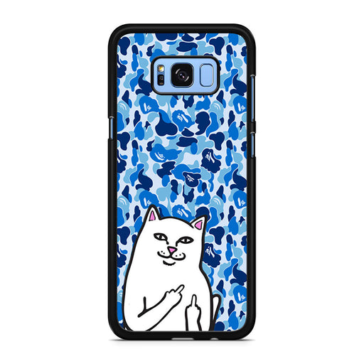 RipNDip Lord Nermal Cat Bape Camo Blue Samsung Galaxy S8/S8+ case