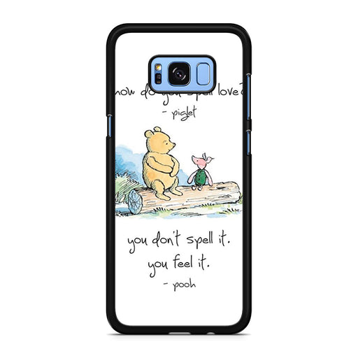Baby Winnie The Pooh Piglet Love Quote Samsung Galaxy S8/S8+ case