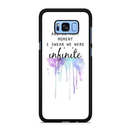 The Perks of Being a Wallflower Quote Samsung Galaxy S8/S8+ case