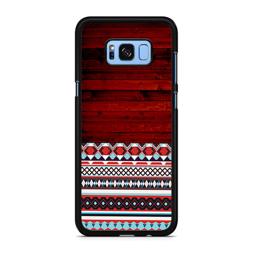 Wooden Aztec Pattern Samsung Galaxy S8/S8+ case