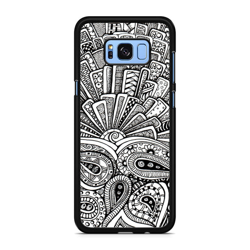 Zentangle Monogram Samsung Galaxy S8/S8+ case