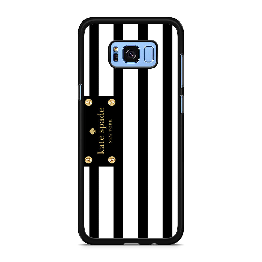 best loved a44ce ffcde Kate Spade Stripes Black White Samsung Galaxy S8/S8+ case